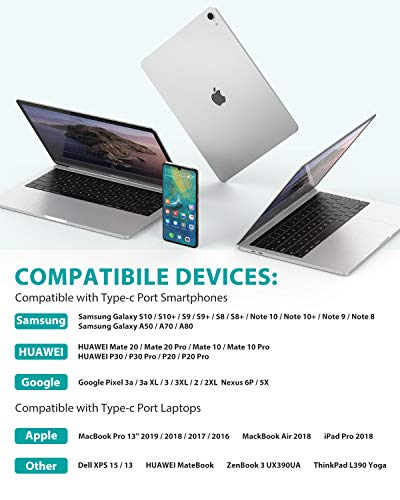 Nimaso USB C Kabel [2 Pack 2M],USB C zu USB C Ladekabel [20V/3A/60W],USB Typ C PD Kabel für Samsung Galaxy S21 Ultra S20/Note20 Ultra,Note10,A80,Google Pixel 3a/4 XL,iPad Pro2020,MacBook Pro Switch