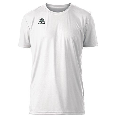 Luanvi Pol Camiseta de Deportes Manga Corta, Hombre, Blanco, L