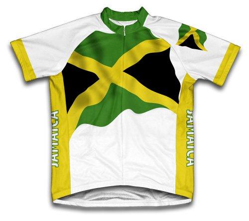 ScudoPro Jamaica Flag Radsport Trikot mit kurzer Ärmel für Menner -