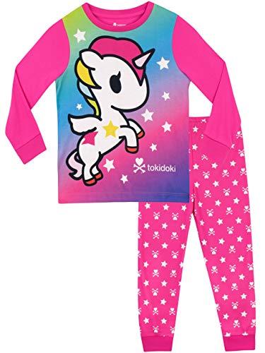 Tonidoki Pijamas de Manga Corta para niñas Unicornio Rosado 9-10 Años