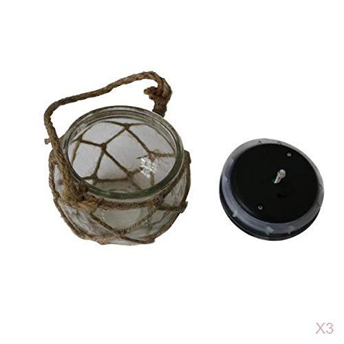 Homyl Caja Vintage Bombilla LED suspensión Panel Solar jardinería Vidrio
