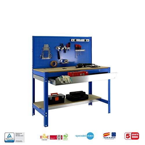 simonrack bt-2Box 1200-Set Werkbank blau/Holz - 7
