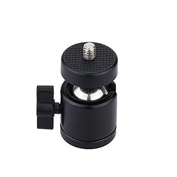 AKOAK 1/4  Swivel Mini Ball Head Screw Tripod Mount for DSLR Camera Camcorder Light Bracket Pack of 1