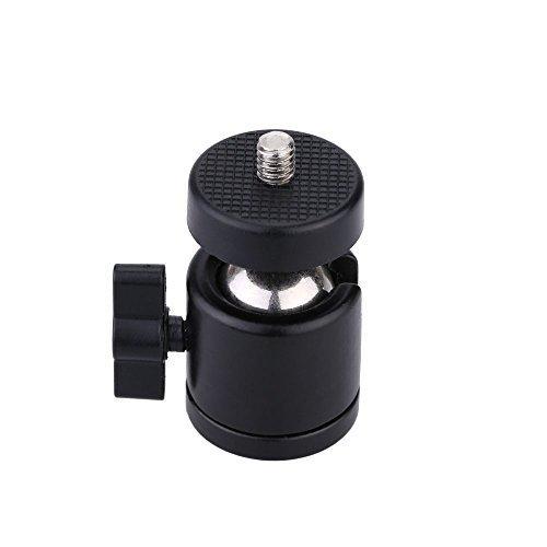 AKOAK 1/4 Swivel Mini Ball Head Screw Tripod Mount for DSLR Camera Camcorder Light Bracket