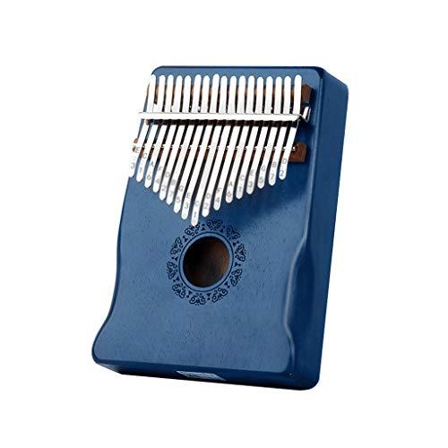 YYL Thumb Piano Kalimba 17 Tasti Portable Mbira Sanza Pianoforte da Dito in Legno Africano Strumento Musicale con Martello Spartito Musicale Regalo per Bambini Principianti Adulti Professionisti