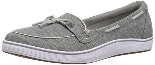 Grasshoppers Women's Windham Jersey Boat Shoe,Charcoal,6 N US