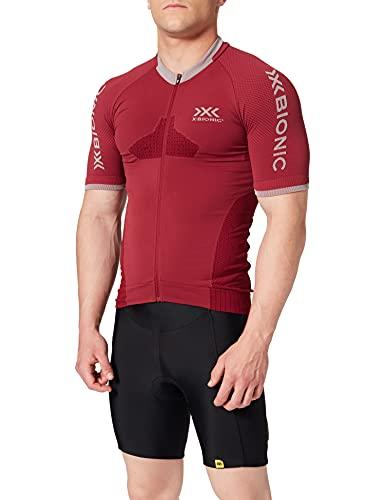 X-Bionic Invent 4.0 T-Shirt, Uomo, Namib Red/Dolomite Grey, XXL