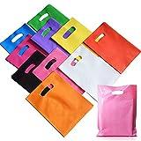 VieFantaisie Plastic Party Favor Bags, 100 PCS 6' x 8' Assorted Color Party Goodie Bags for Kids,...