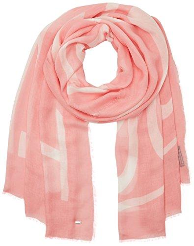 Tommy Hilfiger Sciarpa, Multicolore (Pippa Logo Scarf Sea Pink/snow White), Unica (Taglia Produttore: OS) Donna