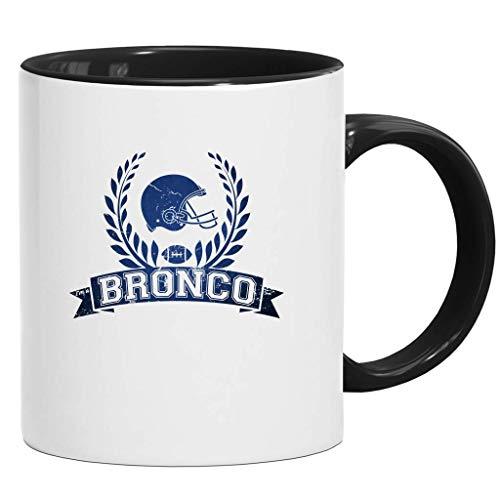 Broncos Any Given Sunday Orange Denver Football Super Bowl Tasse Kaffeetasse mit Farbe Keramik-Becher, Größe:onesize, Farbe:Schwarz (Intone)