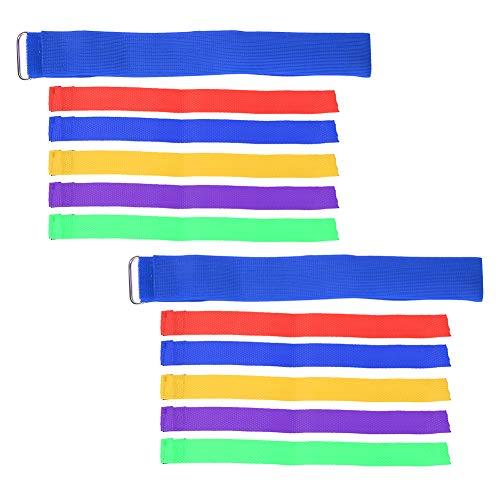 Vbest life ¨¦Lastique Streamer Chasing Ribbon Running Waist Band Enfants Parents Enfant Activit¨¦ Famille Jeu Jouet (Une Ceinture + 5 banderoles)(Bleu)