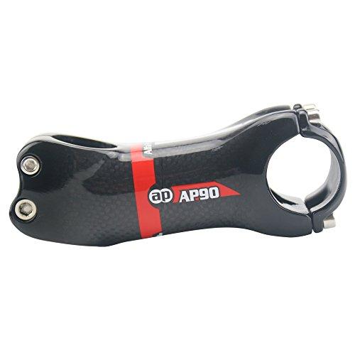 Alfa Pasca Biciclette in fibra di carbonio Stem + -17 gradi 3K lucido rosso 31.8 * 120 millimetri 17 Grado 120 millimetri Rosso 3K Lucido