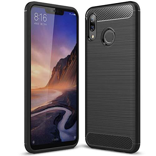 Toppix für Huawei Nova 3 Hülle, Handyhülle TPU Soft Case Silikonhülle mit Carbon Optik [Hitze-Dispersion] Backcover Schutzhülle Cover für Huawei Nova 3 (Schwarz)