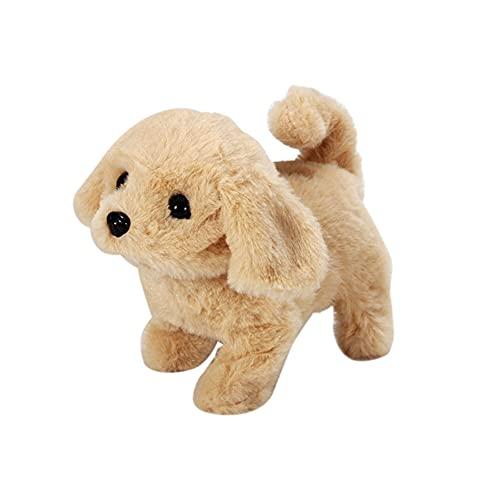 Spielzeug Hund Elektronisch, Elektronisches Hund Plüschhund Pädagogisches Spielzeug für Kinder, Läuft und Bellt, Hund Simulation Plüschtier