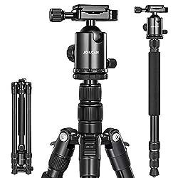 top 10 good slr tripod 80-inch Joilcan camera tripod, aluminum tripod for DSLR, monopod, 360 ° lightweight tripod …