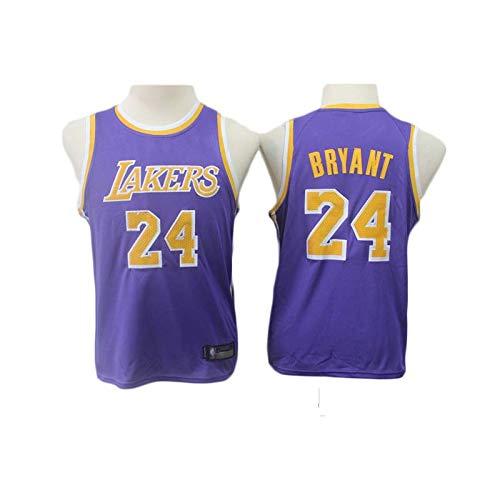 KSWX Camiseta de Baloncesto Estilo Infantil Lakers # 24 Suit Traje De Entrenamiento De Baloncesto,Purple,XXL