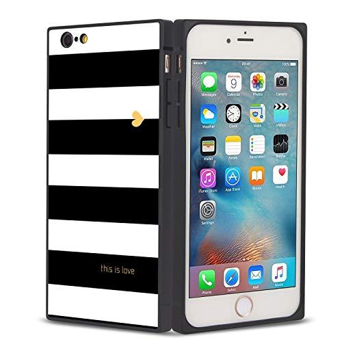 FAUNOW Funda cuadrada para teléfono iPhone 6/6S Plus This is Love Anti-Shock Flexible Premium Cover para iPhone 6/6S Plus
