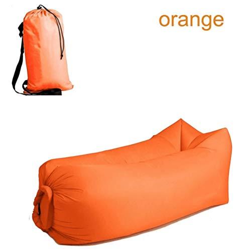 APQMR Aufblasbarer Lounger Schlafsack Ultraleicht Aufblasbare Sofa Couch Faul Camping Schlafsäcke Luftbett Beach Lounge Chair Fast Folding-D