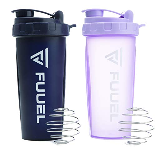 2 Pack Protein Shaker 24oz (Navy and Purple)