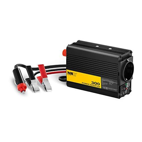 MSW Spannungswandler Wechselrichter Stromwandler MSW-CPI-300MS (300 W, DC 12 V zu AC 230 V, modifizierte Sinuswelle inklusive Kfz-Adapterstecker)