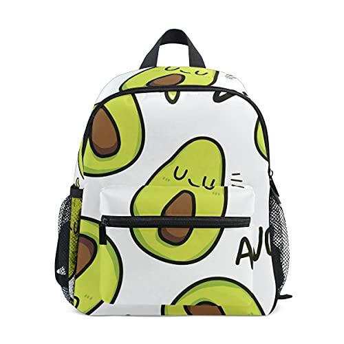 Mini mochila escolar mochila universitaria niños Bookbag para niños niñas lindo aguacate