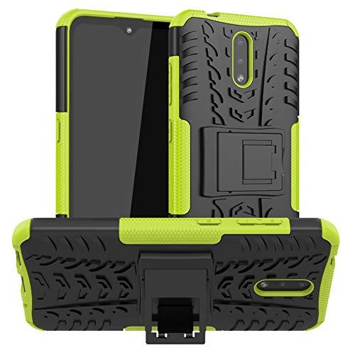 betterfon | Nokia 2.3 Hülle Outdoor Handy Tasche Hybrid Case Schutzhülle Panzer TPU Silikon Hard Cover Bumper für Nokia 2.3 Grün