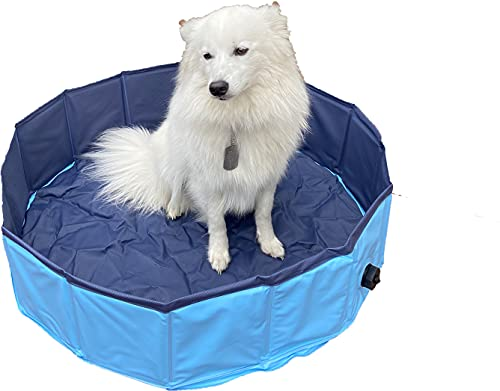 dreambuilderToy Foldable Dog Bath Swimming Pool Collapsible Pet Bathing Pool