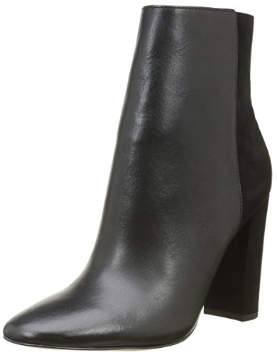 Buffalo London Damen 132209 Vegetal Nobuck Cowboy Stiefel, Schwarz (Black 01), 39 EU