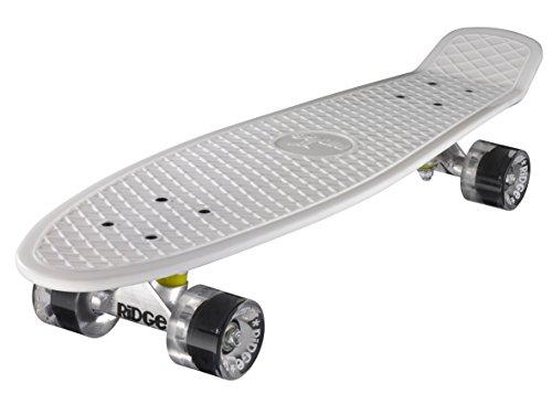 Ridge Big Brother Large Retro Cruiser Skateboard, Unisex, Blanco, 69 cm