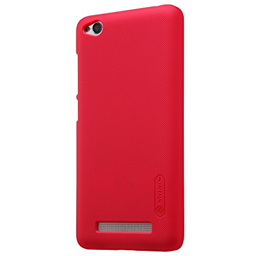 Nillkin Frosted Shield - Carcasa Trasera Protectora Super Ligera, Funda Antideslizante, Estuche Anti-Rayones Xiaomi RedMi 4A - Rojo