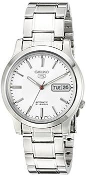 SEIKO Men s SNK789 SEIKO 5 Automatic Stainless Steel Watch with White Dial