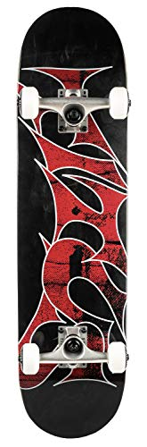 TITUS Skateboard Stained Schranz Größe 8 Komplettboard, 7 Schichten Ahornholz, Skateboard in schwarz, bereits fertig montiert, Board für Anfänger, Profis, Jugendliche, Erwachsene, Mädchen und Junge