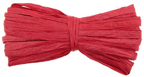 Natur-Bast 4 mm - Länge 10 m - in vielen, Raffiabast (rot)