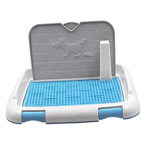 FLAMEER Inodoro para Cachorros Inodoro para Perros para Perros Pequeños Caja De Arena De Plástico Inodoro para Perros Inodoro para Cachorros - Multicolor, L Azul
