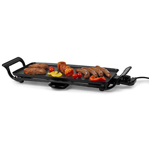 MEDION Teppanyaki Grill, 2.000W, stufenlose Temperatureinstellung, Aluminium-Platte, Anti-Haft-Beschichtung, MD17997 schwarz