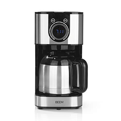 Beem Fresh Aroma, macchina da caffè con filtro, termica, in acciaio inox, 1 l, con elegante rotella di controllo, timer da 24 ore, 800 W, per 4-8 tazze