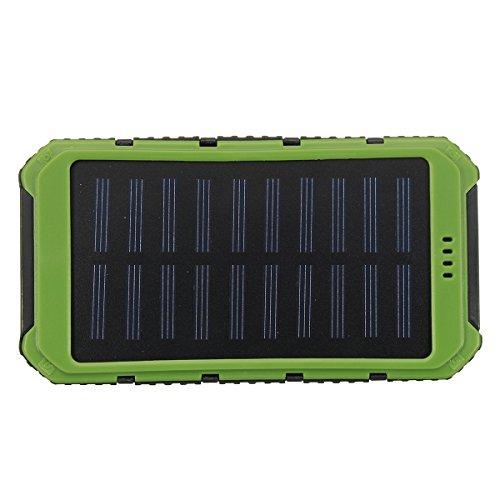 MJJEsports Waterdichte Solar LED Dual USB Power Charger Externe batterij-oplader Doos Opbergdoos, Orange, 1