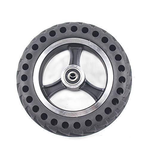 HUAQINEI Neumáticos de Scooter eléctrico, neumático sólido de Panal 200x50 + Ruedas de aleación de Aluminio para Scooter eléctrico neumático sólido de Scooter eléctrico