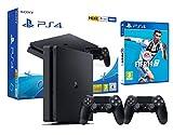 PS4 Slim 500Gb Playstation 4 Nera + FIFA 19 + 2 Controller Dualshock 4