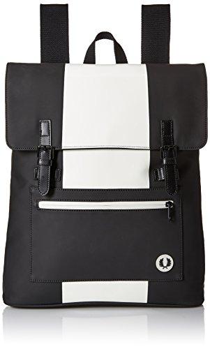 Fred Perry Mochilas Mate PU Backpack para Hombre, Negro/Crudo (Negro) - 10446527