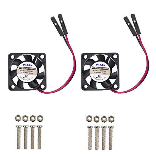 Raspberry Pi 4 Fan, iUniker Raspberry Pi Cooling Fan 30x30x7mm Brushless CPU Cooling Fan for Raspberry Pi 4 Model B, 3 B+, Pi 3, Pi 2, Pi 1 B+, RetroFlag NESPI Case(2-Pack)