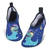 Zapatos de Agua para Bebé Niño Dinosaurio Zapatillas Acuáticas Secado Calcetine (Armada, Numeric_28)