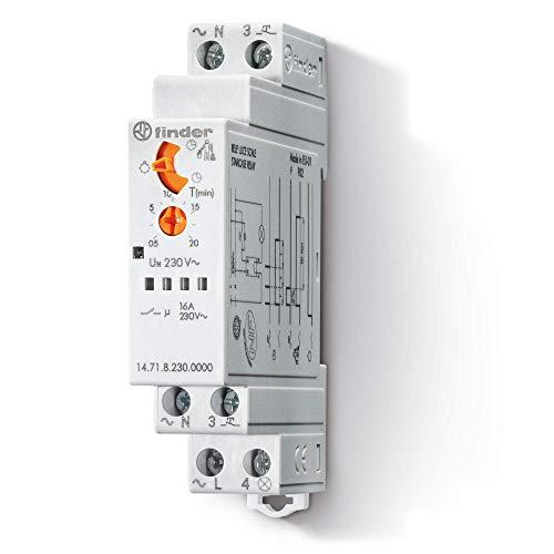 Finder 147182300000PAS - Automático de escalera monofunción 1 contacto 16 A - AC (50/60Hz) - 230 V