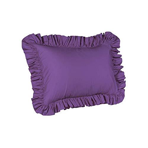 ShopBedding Ruffle Pillow case - Standard Pillow sham (Grape), Ruffle Pillow Cover.
