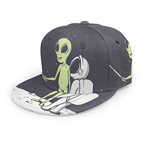 Gorro de béisbol para mujer y hombre, astronauta espacial amigos fotografía selfie cámara personaje de dibujos animados Cosmos Galaxy Hip Hop Snapback Trucker sombrero de béisbol de ala plana