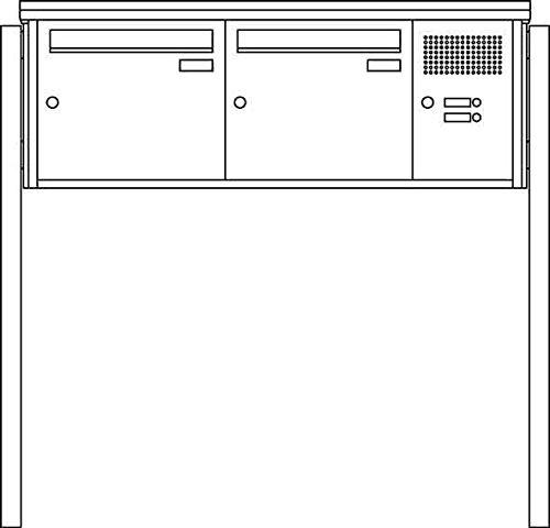 Ritto 1334220 Vista Briefkasten Stand, 2fach, freistehend, Edelstahl