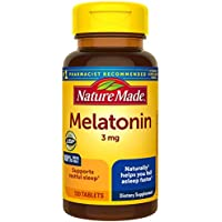 2 x 120 Count Nature Made Melatonin 3mg Tablets for Supporting Restful Sleep