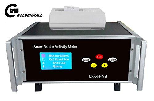 CGOLDENWALL Smart Food Water Activity Meter HD-6 Labor-Testgerät mit hochpräzisen Sensor WSC-4 Messgenauigkeit: Temperatur ± 0,5 °C Wasseraktivität ± 0,012