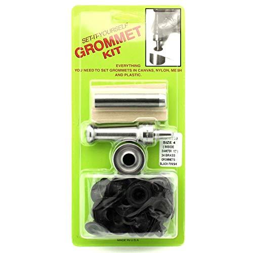 C.S. Osborne Set-It-Yourself Grommet Kit K233-4, 1/2' Hole, W/Black Grommets