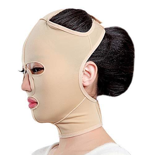 iPobie Facial Adelgazante Antifaz Lifting Facial, Faja Facial para Reducir la Barbilla Doble y Piel Reafirmante Shape V Line para Papada Anti Arrugas Compacto (L)